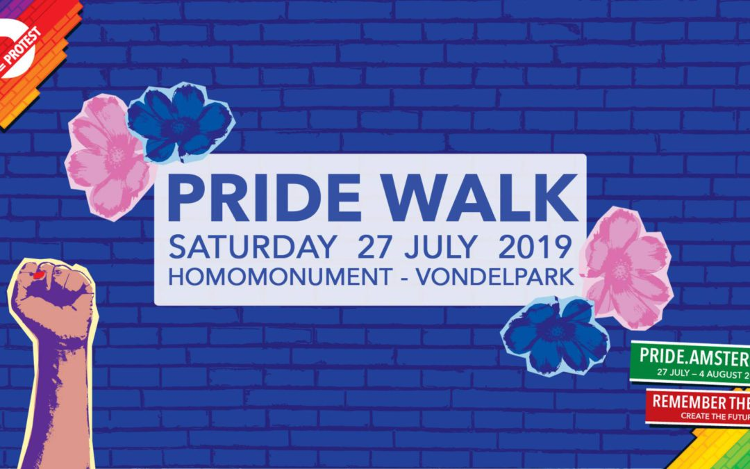 Pride Walk 2019 starts at Noon at the Homo-monument.