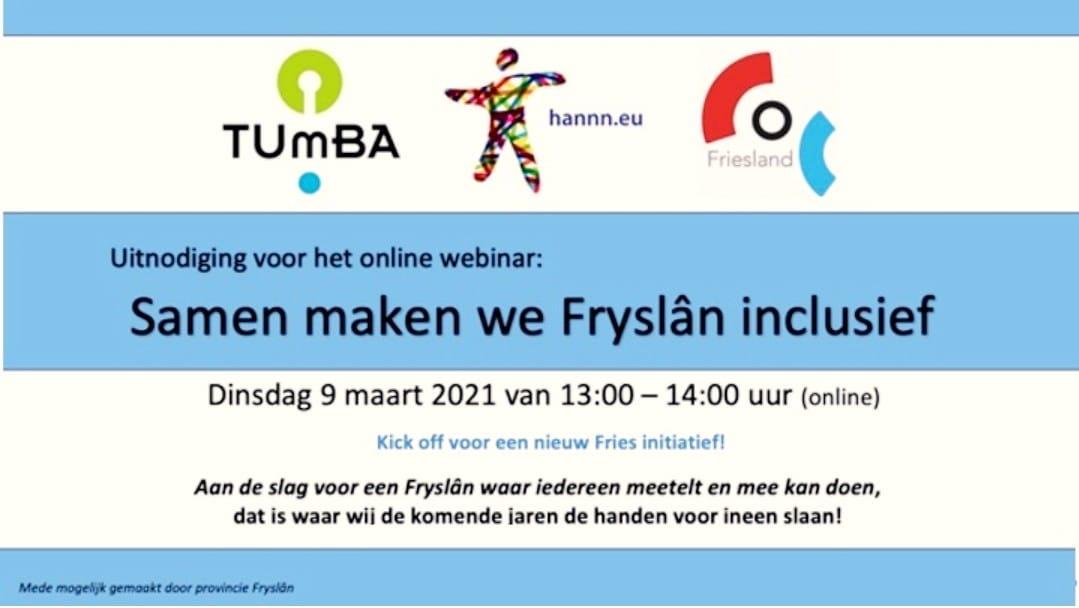 Webinar Samen maken we Fryslân inclusief